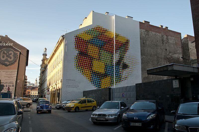 Rubik's cube mural
